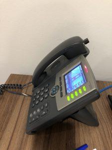 Hearing Aid Handset on Phone Dock