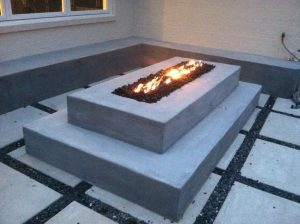 Custom Firepit and Benches